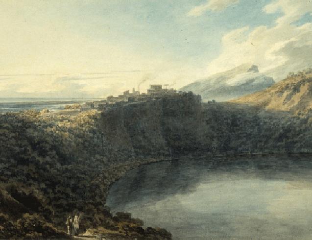 Italian landscape by John Robert Cozens