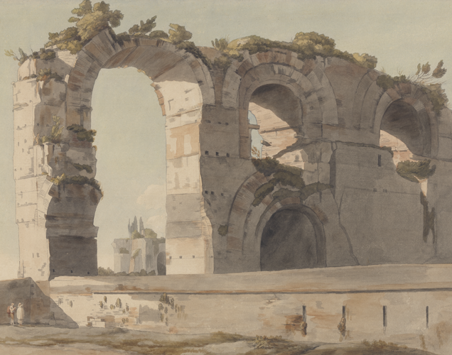 The Claudian Aquaduct by Francis Towne