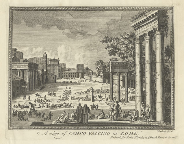 An engraving of Rome