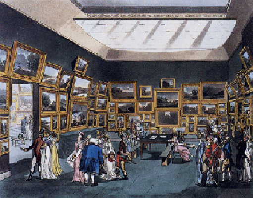 A Rengency-Era London Art Exhibition